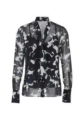 Chalk Multi Fruit Blouse by Jason Wu