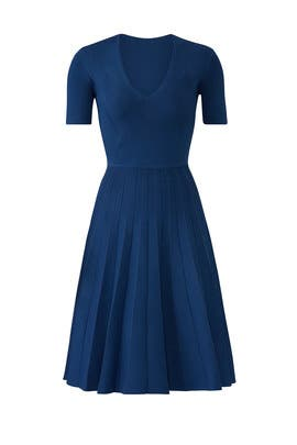 Navy Knit Flare Dress by Jason Wu Collection