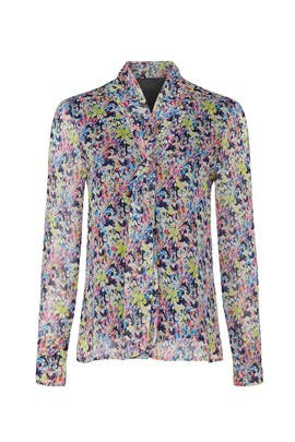 Pink Multi Floral Blouse by Jason Wu Collective