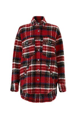 Tweed Plaid Shirt by The Kooples