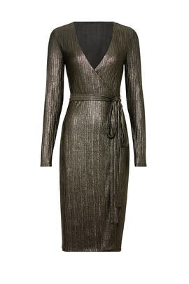 Gold Pleated Dress by RACHEL ROY COLLECTION