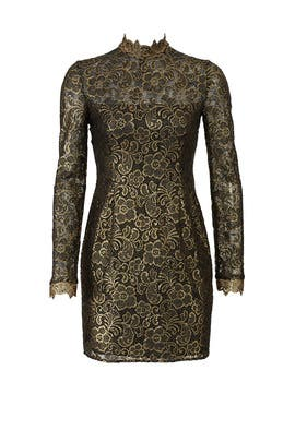 Metallic Hunter Dress by Rachel Zoe