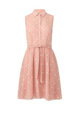 Blush Polka Dot Dress by Slate & Willow