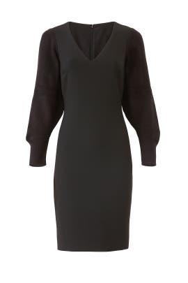 Black Knit Sleeve Dress by Badgley Mischka