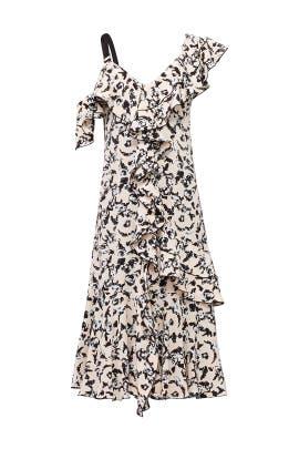 Scribble Rose Ruffle Dress by Proenza Schouler
