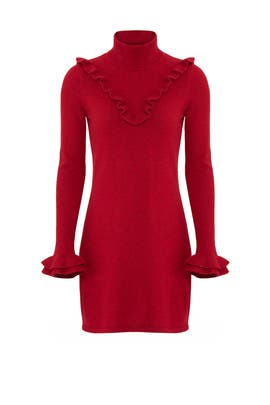 Red Dulcie Ruffle Dress by Rebecca Minkoff