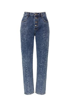 Rigid Washed Jeans by SJYP
