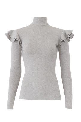 Grey Mason Knit Top by Hunter Bell