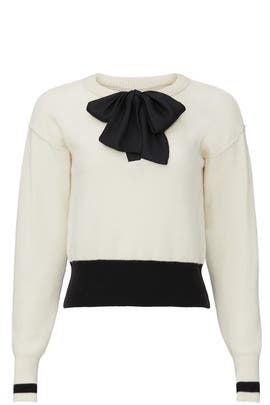 Cream Bow Sweater by Sweet Baby Jamie