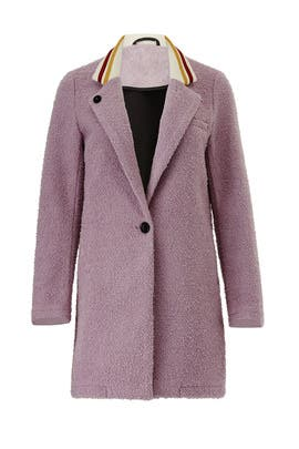 Lilac Contrast Collar Coat by Scotch & Soda