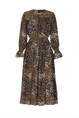 Animal Print Midi Dress by Victor Alfaro Collective