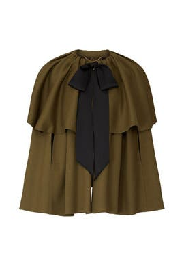Double Face Wool Tiered Cape by Adam Lippes