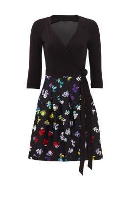 Daisy Buds Wrap Dress by Diane von Furstenberg