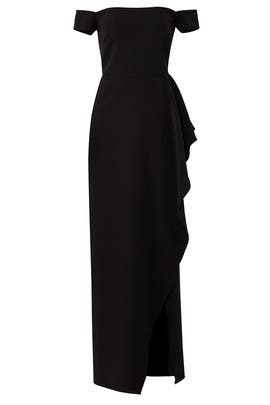 Off Shoulder Split Gown by JS Collection