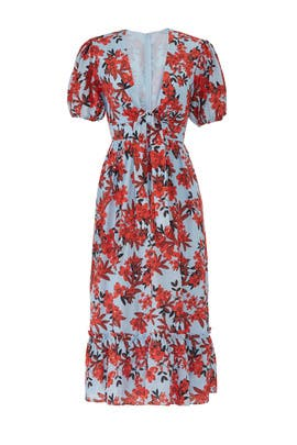 Red Sea Midi Dress by La Maison Talulah