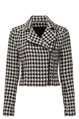 Houndstooth Moto Jacket by Louna