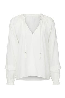 White Tailynn Blouse by PAIGE