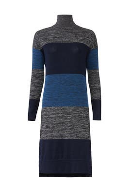 Striped Bowery Turtleneck Dress by rag & bone JEAN