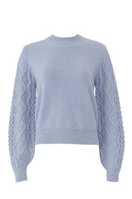 Blue Penny Cable Sweater by Rebecca Minkoff