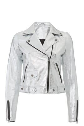Silver Leather Jacket by Slate & Willow