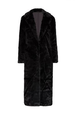 Faux Fur Black Bird Coat by Unreal Fur