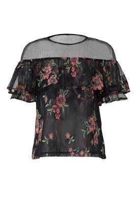 Black Floral Rayna Top by BB Dakota