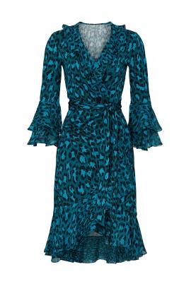Carli Ruffled Wrap Dress by Diane von Furstenberg