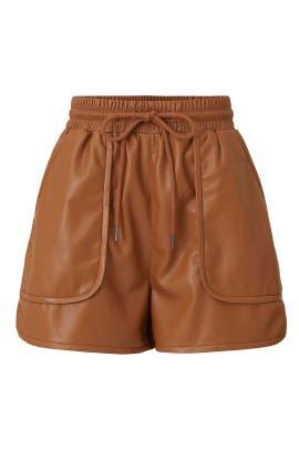 Faux Leather Regan Shorts by Joie