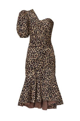 One Sleeve Leopard Dress by Jonathan Simkhai