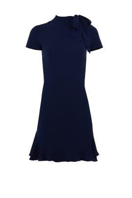 Navy Bosher Dress by Shoshanna