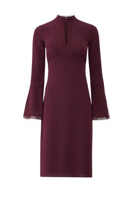 Burgundy Keyhole Dress by Shoshanna