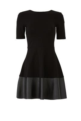 Black Pleather Trim Dress by Slate & Willow