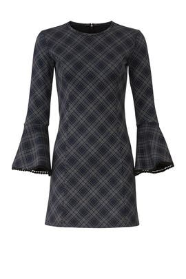 Plaid Bell Sleeve Dress by Slate & Willow