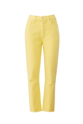 Yellow Riley Jeans by AGOLDE
