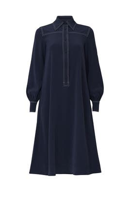 Navy Collared Dress by Co