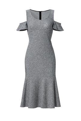 Grey Open Shoulder Dress by DEREK LAM