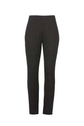 Striped Ankle Slit Pants by Fifteen Twenty