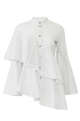 Sunny Stripe Layered Blouse by Osman