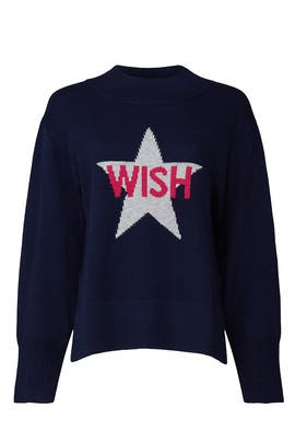 Wish Graphic Sweater by Victor Alfaro Collective
