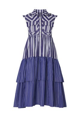 Blue Striped Shirt Dress by Victoria / Tomas