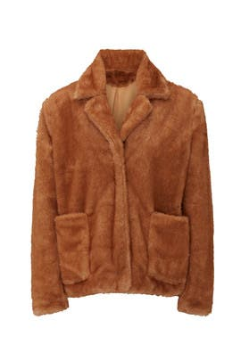 Twiggy Faux Fur Jacket by B Collection by Bobeau