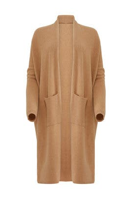 Tan Duster Cardigan by BROWN ALLAN