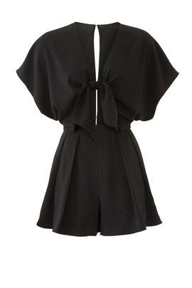Black Kent Romper by Jay Godfrey