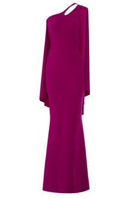 Purple Back Drape Gown by La Petite Robe di Chiara Boni