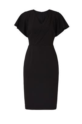 Black Draped Sheath by Lauren Ralph Lauren