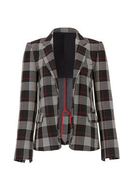 Plaid Paolo Blazer by PINKO