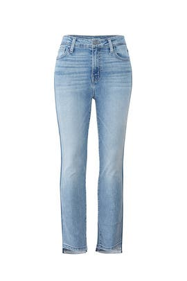 Two Tone Modern High Rise Crop Jeans by Sanctuary