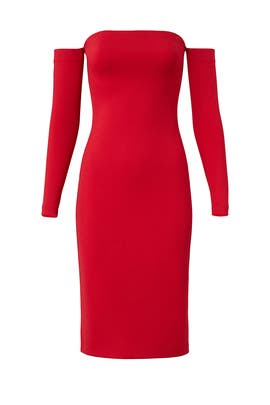 Red Nicolette Dress by Amanda Uprichard