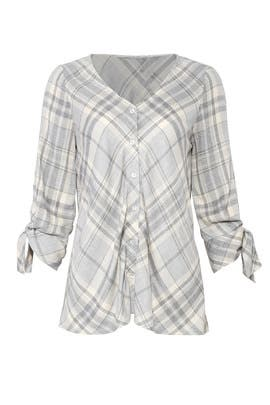 Tie Sleeve Blouse by B Collection by Bobeau