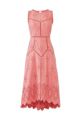 Pink Halone Midi Dress by Joie